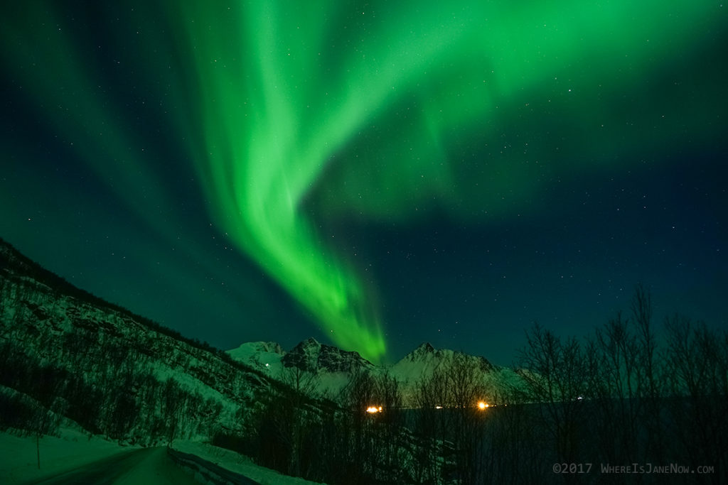 Northern lights over Senja