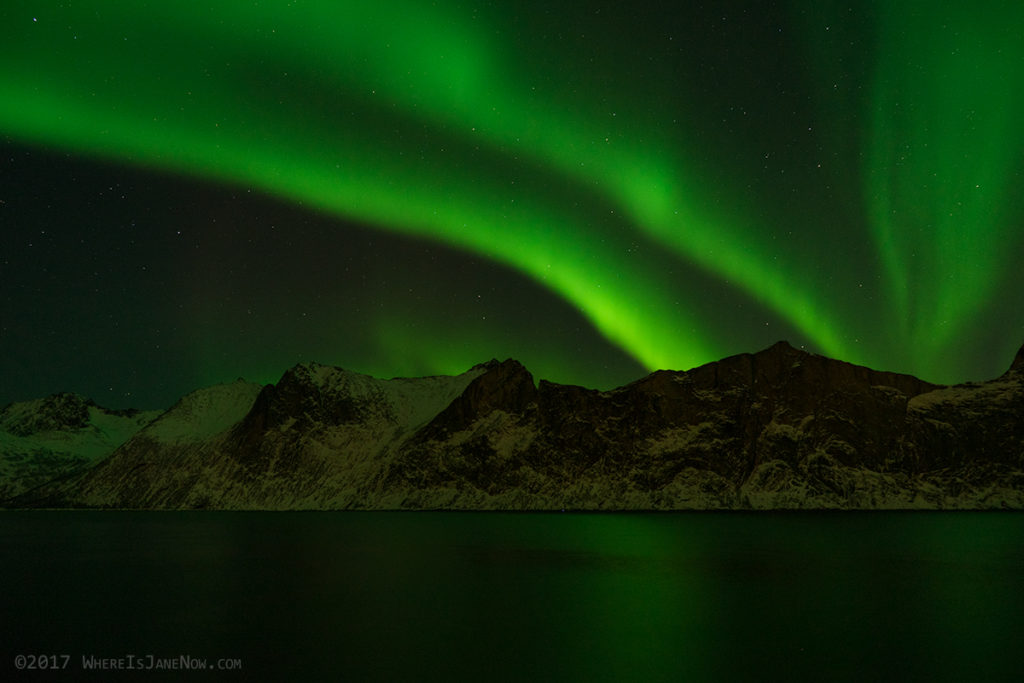 Northern lights over Senja